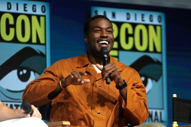 Yahya Abdul-Mateen II speaking at the 2018 San Diego Comic Con International