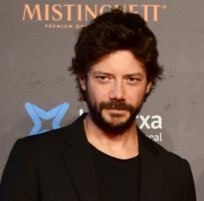 Álvaro Morte as seen while attending the Sitges Film Festival in Sitges, Spain in October 2018