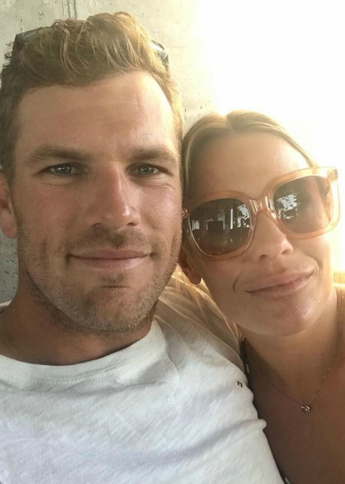 Aaron Finch and Amy Griffiths in a selfie in February 2019