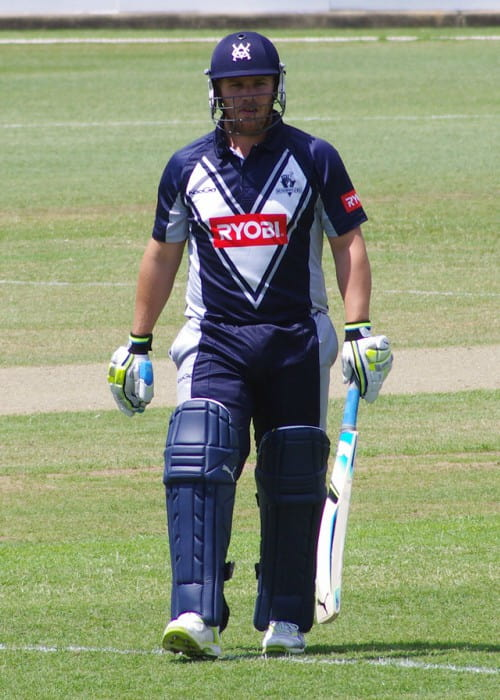 Aaron Finch during a match in October 2011