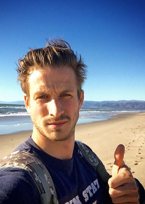 Adam Huper as seen in a selfie taken in Oxnard State Beach and Park in November 2015