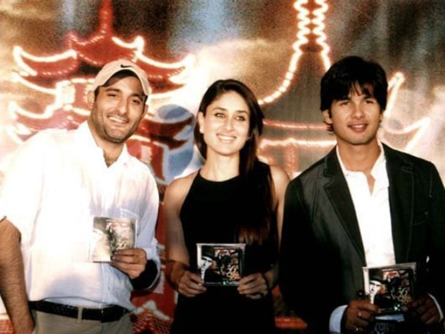 Akshaye Khanna as seen at the audio release of the film 36 China Town along with Shahid Kapoor and Kareena Kapoor in August 2012