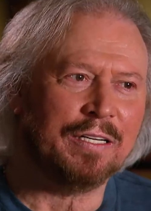 Barry Gibb during an interview on the talk show Sunday Night in 2019