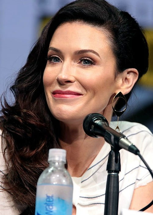 Bridget Regan speaking at the 2017 San Diego Comic-Con International