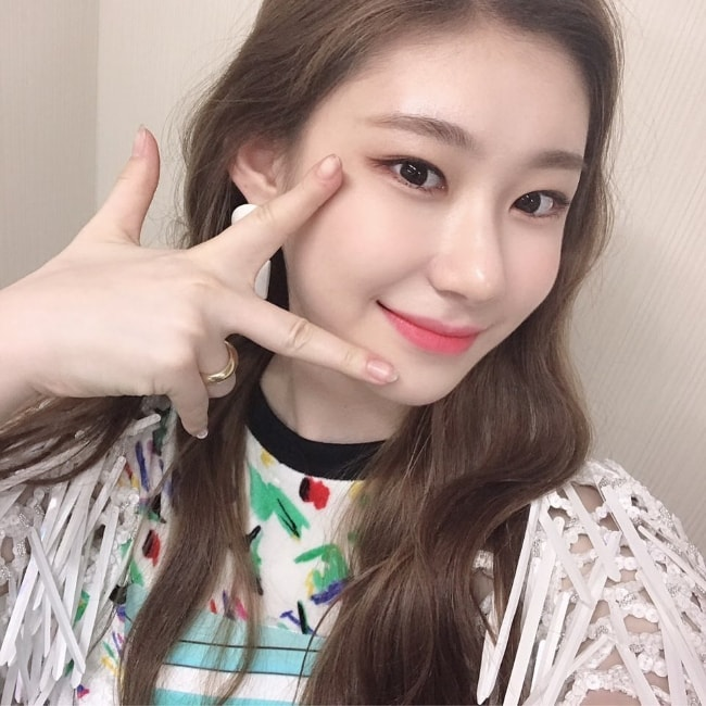 Chaeryeong as seen while clicking a selfie in May 2019