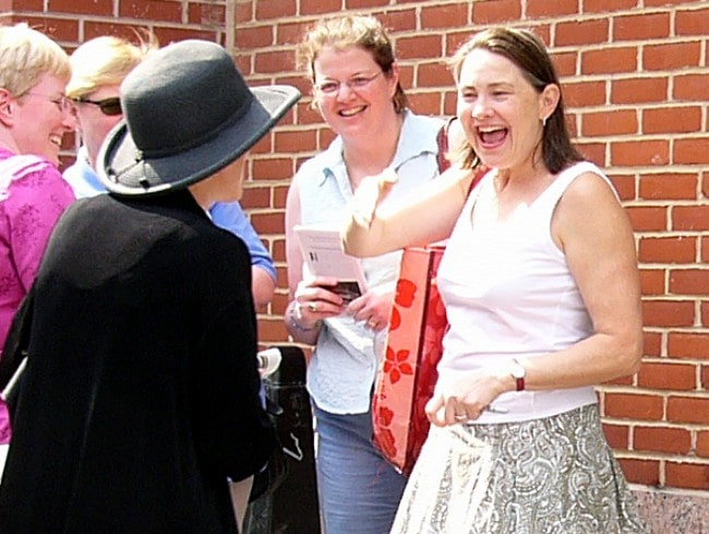 Cherry Jones (Right) with her fans as seen in May 2007
