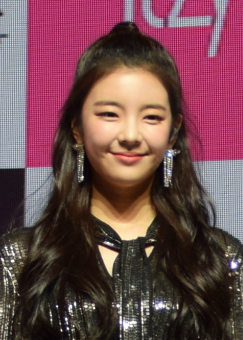 Choi Jisu as seen while smiling in a picture taken during an event in February 2019