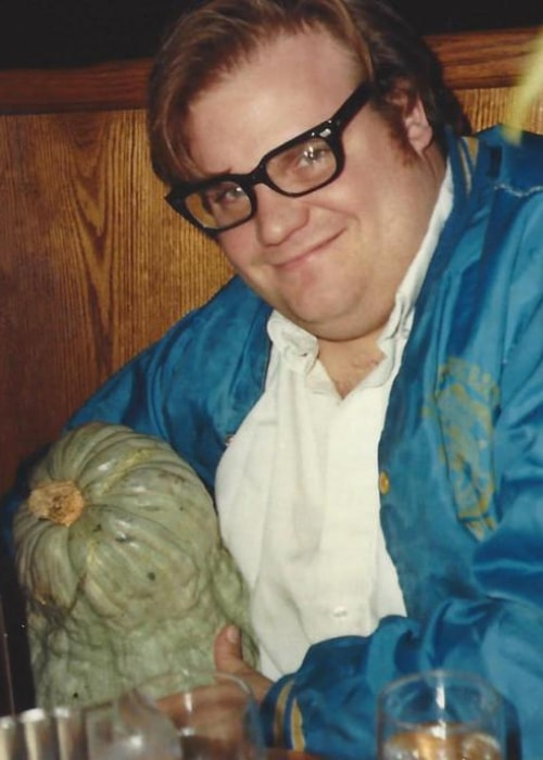 Chris Farley as seen in a picture taken at a restaurant in the past
