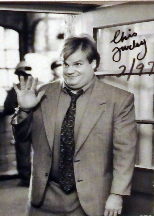 Chris Farley as seen in a picture taken in February 1997