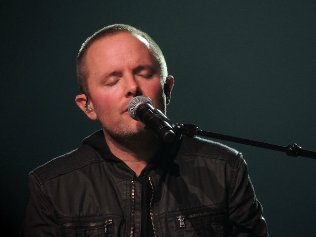 Chris Tomlin during a performance in March 2013