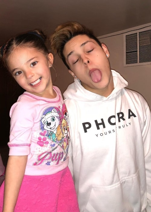 Christopher Romero as seen while posing for an adorable picture alongside his little sister, Isabel Romero, in January 2018