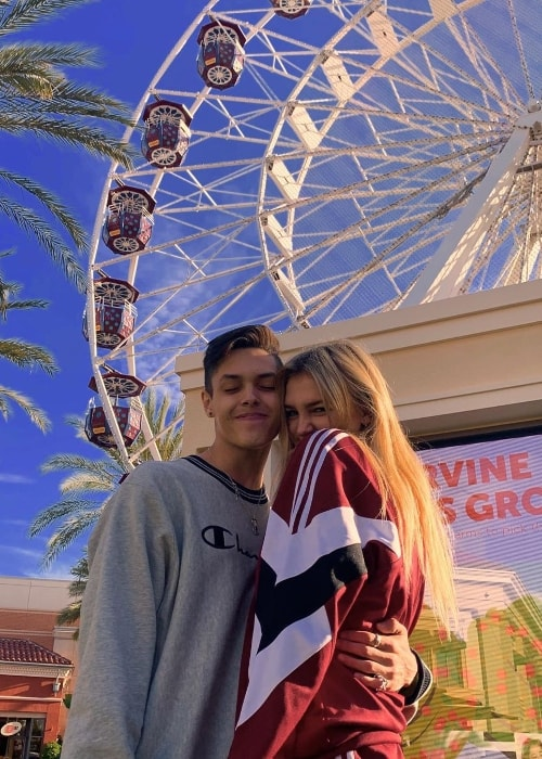 Christopher Romero as seen while posing for the camera along with Madi Monroe in May 2019