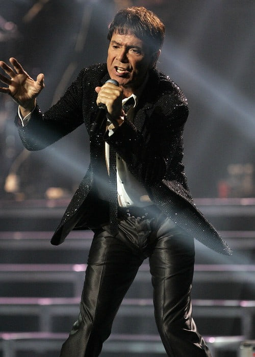 Cliff Richard during a performance in February 2013