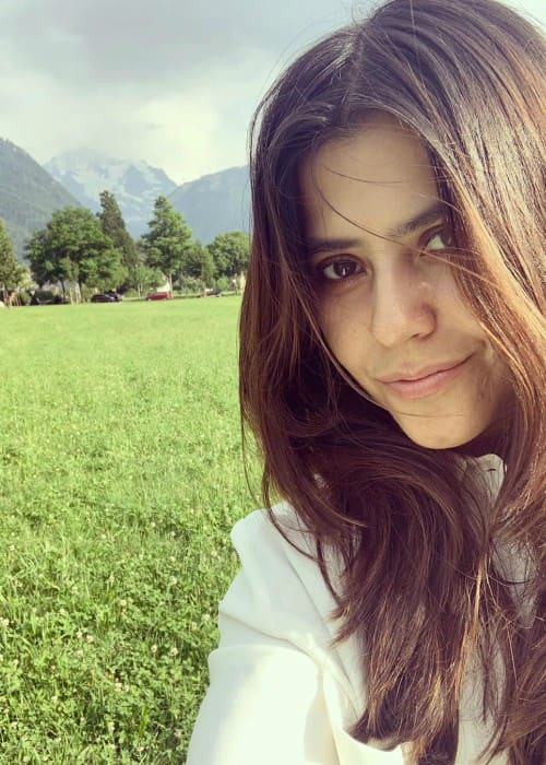 Ekta Kapoor in a selfie in July 2019