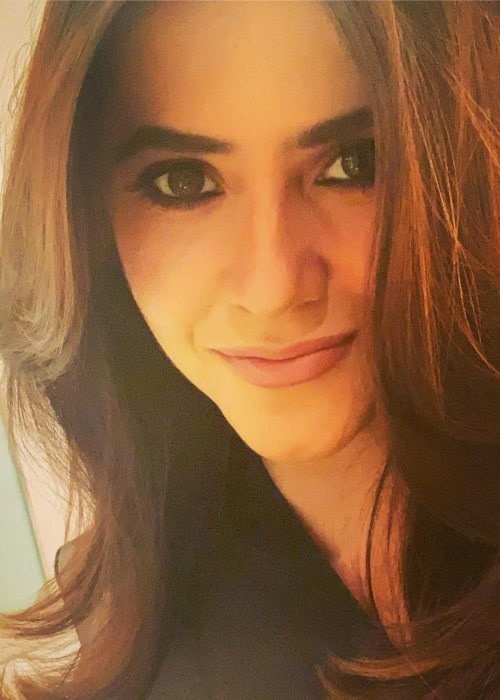 Ekta Kapoor in an Instagram selfie as seen in July 2019