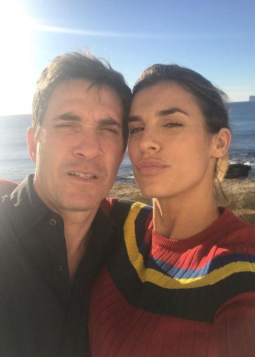 Elisabetta posing with her husband Brian Perri in December 2018