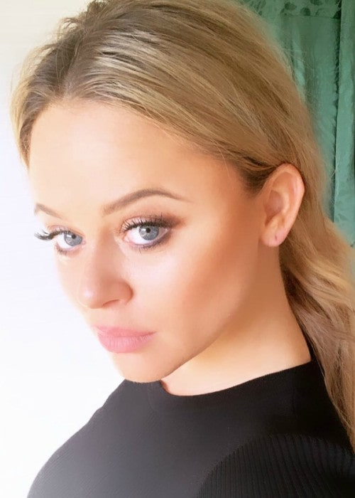 Emily Atack in a selfie as seen in March 2019