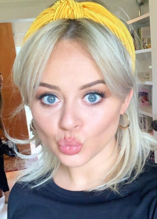 Emily Atack in an Instagram selfie as seen in June 2019