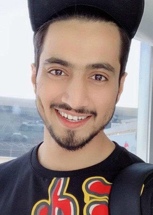 Faisal Shaikh in an Instagram selfie as seen in July 2019