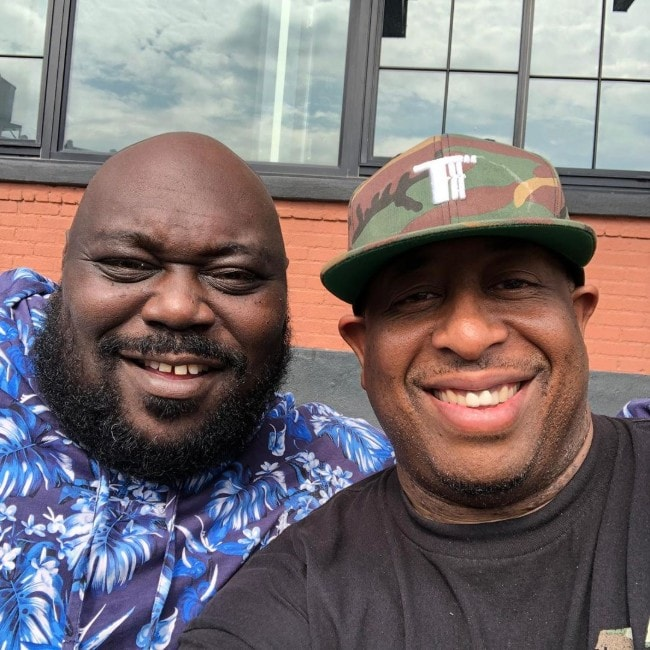 Faizon Love with his friend as seen in September 2019
