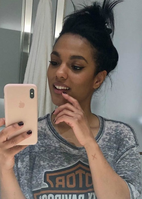 Freema Agyeman in an Instagram selfie in June 2019