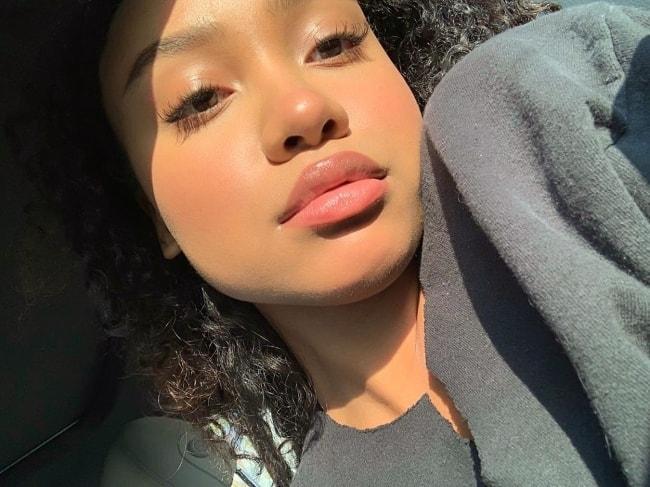 Genneya Walton as seen while taking a selfie in June 2019