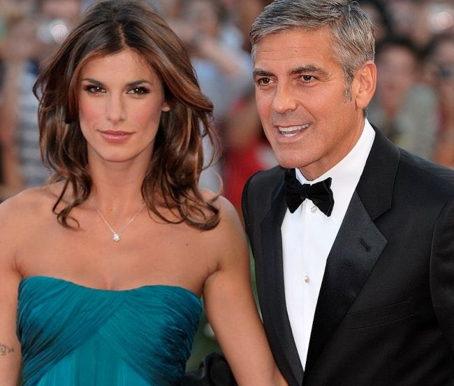 George Clooney and Elisabetta Canalis attending the 66th Venice International Film Festival in September 2009