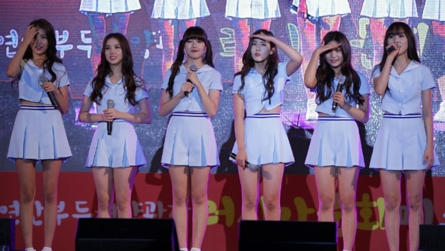Girl group, 'GFriend', as seen in a picture taken during an event in October 2015