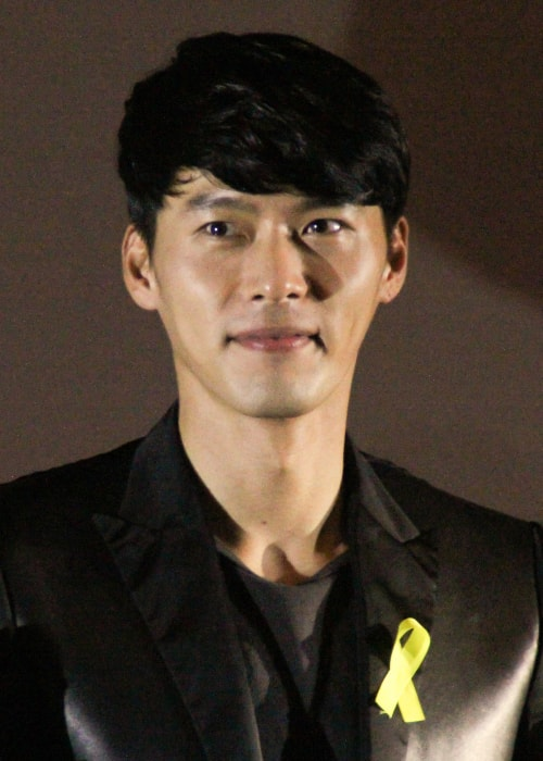 Hyun Bin as seen in a picture taken at the press conference for Fatal Encounter on May 2, 2014