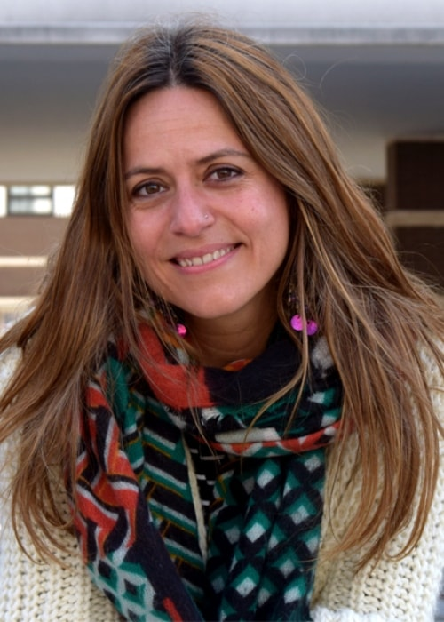 Itziar Ituño as seen while smiling for a picture in June 2018