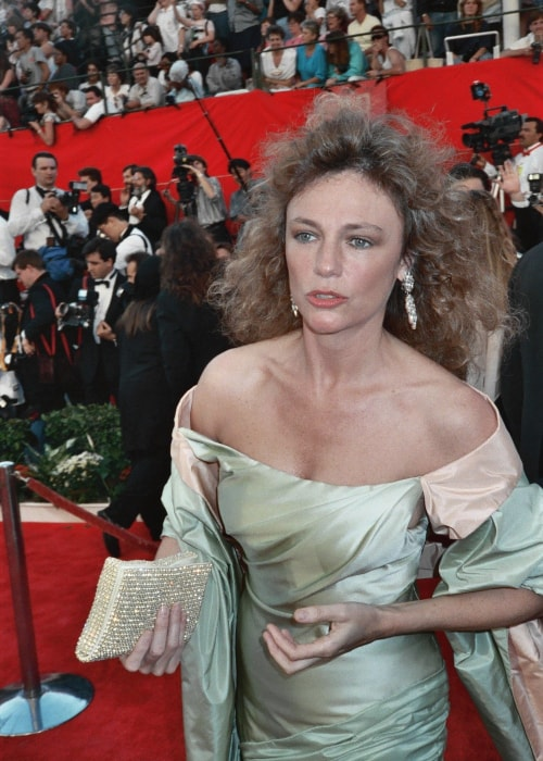 Jacqueline Bisset as seen in a picture taken at the red carpet during the 1989 Academy Awards on March 29