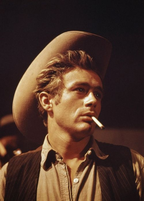 James Dean in his last film performance as Jett Rink in Giant