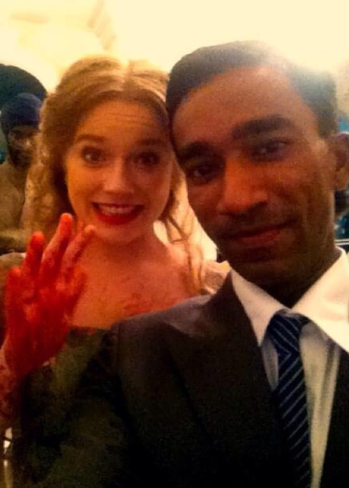 Jemima West as seen while posing for a selfie along with her 'Indian Summers' co-actor in the Great Britain in October 2015