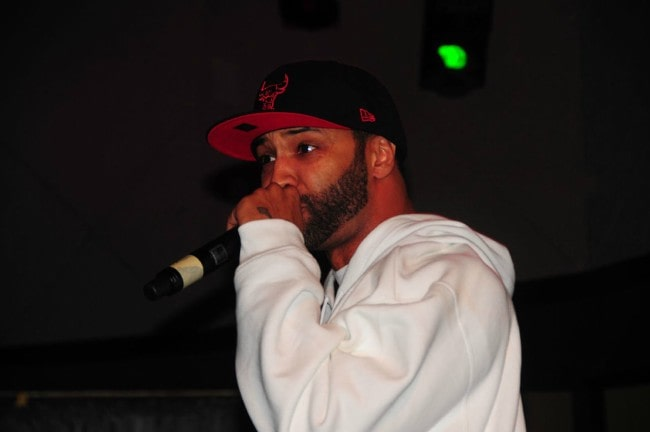 Joe Budden during a performance in March 2010