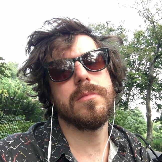 John Gallagher Jr. in an Instagram selfie as seen in August 2019