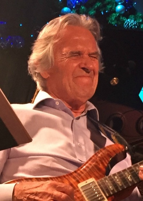 John McLaughlin during a performance in December 2016