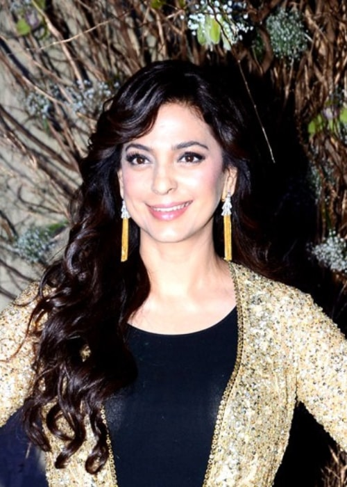 Juhi Chawla as seen in a picture taken at Manish Malhotra's 50th birthday bash in December 2016