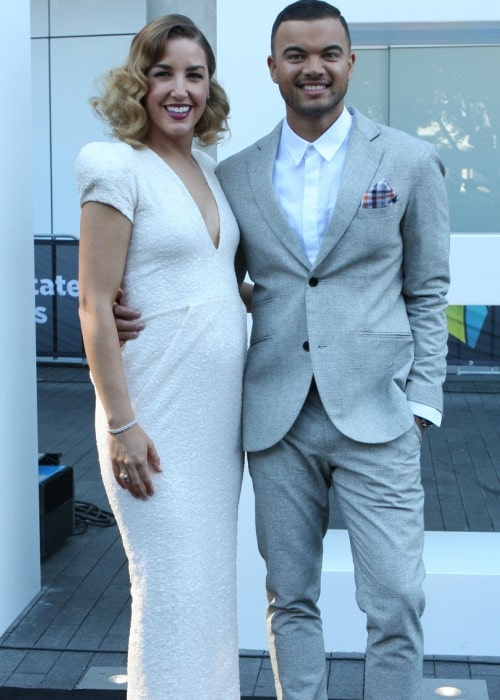 Jules Sebastian and Guy Sebastian at the ARIA Awards 2013 ceremony