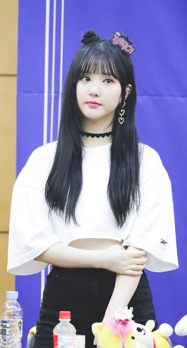Jung Eun-bi (Eunha) as seen in a picture clicked during an event in May 2018
