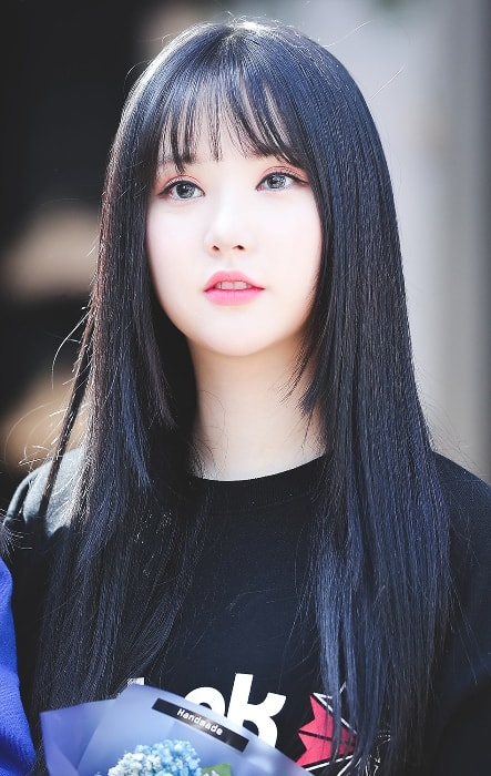 Jung Eun-bi (Eunha) as seen in a picture taken in April 2018
