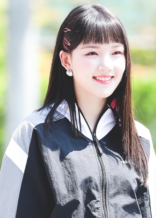 Jung Ye-rin (Yerin) as seen while smiling for the camera in July 2018