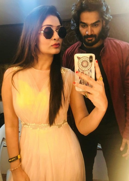 Kartikeya Gummakonda and Payal Rajput in a selfie in December 2018