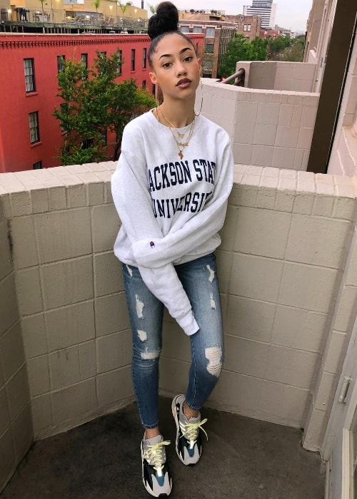 Kayla Bylon as seen while posing for the camera in New Orleans, Louisiana, United States in April 2018