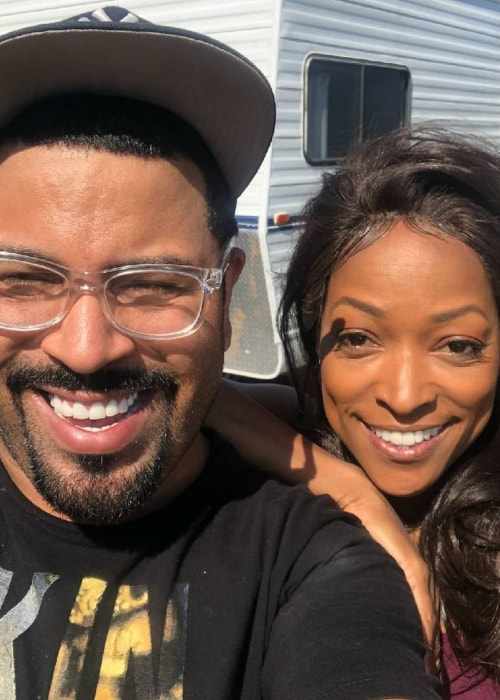 Kellita Smith as seen in a selfie taken with the owner of By Sir Tony in August 2018