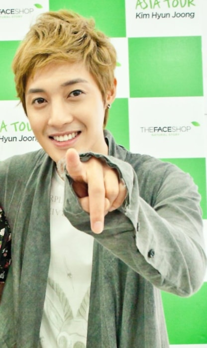 Kim Hyun-joong as seen during The Face Shop promotion activities in Taiwan in 2011