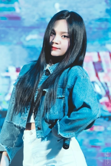 Kim Ye-won (Umji) as seen while posing for a picture during an event in September 2018