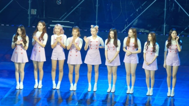 MOMOLAND members as seen at their HERO CONCERT in Seoul in November, 2017