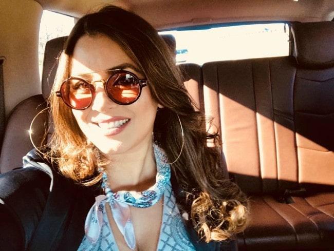 Mahima Chaudhry in an Instagram selfie as seen in April 2018