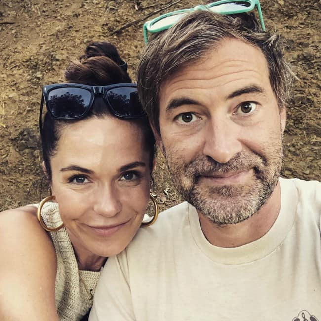 Mark Duplass and Katie Aselton in a selfie in August 2019