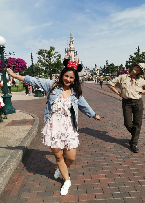 Meera Deosthale as seen in a picture taken at Disneyland in July 2019